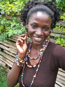 Image of kenyan beads jwellery made by Tina