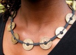Multi-coin necklace made out of east african coins